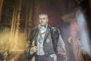 Retratos de los Marqueses de Linares, obra de Francisco Pradilla y de Ortiz.
