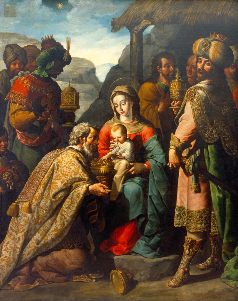 José Juárez, 'Adoración de los Reyes', 1655.